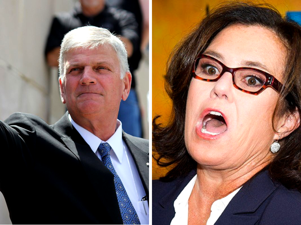 Franklin Graham tells Rosie O'Donnell 'Let Jesus Clean Up Your Mouth'