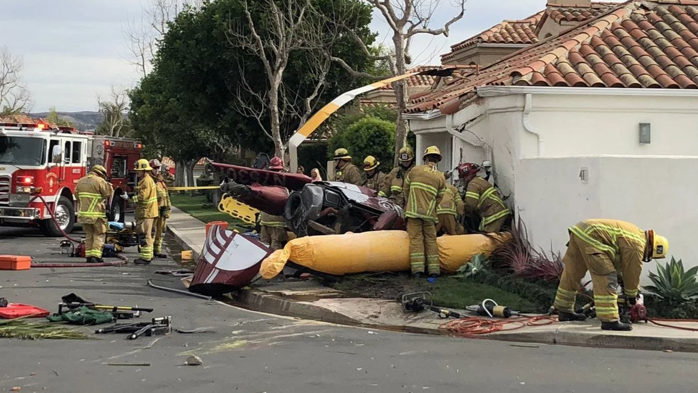 3 killed as Helicopter Crashes into House in Newport Beach