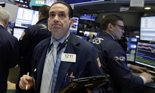 """The White House is """"concerned"""" about the fall on US stock markets after the Dow Jones Industrial Average dropped by 1,175 points."""