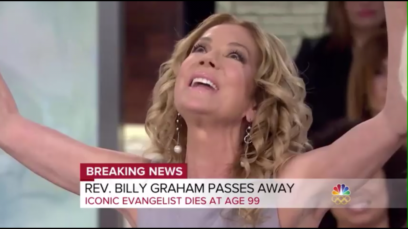 """""""My whole family came to Jesus through the Billy Graham organization."""" Actress Kathie Lee Gifford"""
