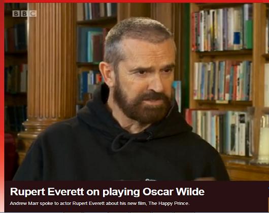 Oscar Wilde was better than Jesus Says Rupert Everett