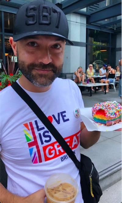 After Kissing Christianity Goodbye, Ex Pastor Joshua Harris Joins Vancouver's LGBTQ Pride Parade!!