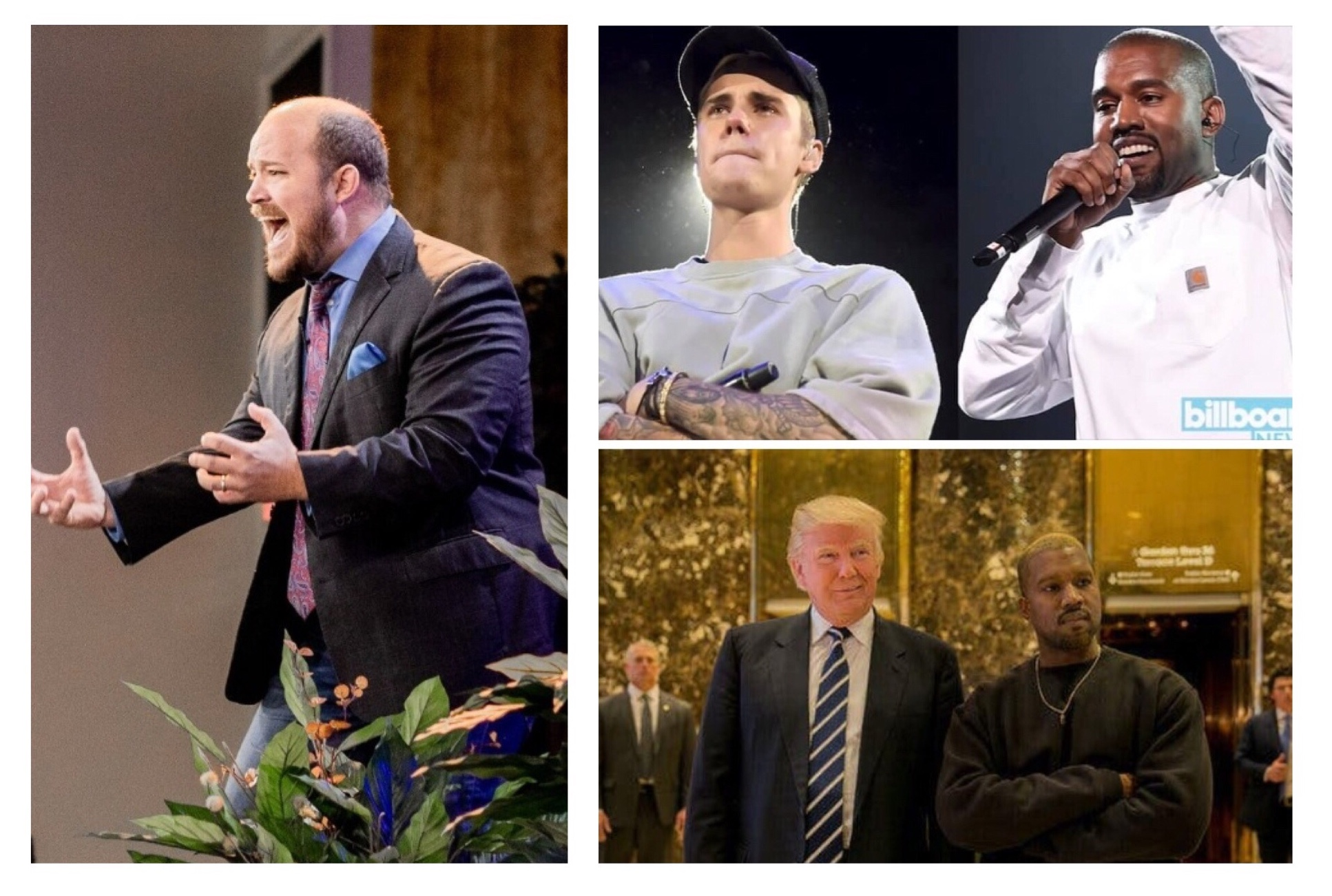 """ Meet Donald Trump, Justin Bieber, and Kanye West. Three men anointed by God Himself that are and will shape and shift.."" Says Jeremiah Johnson"