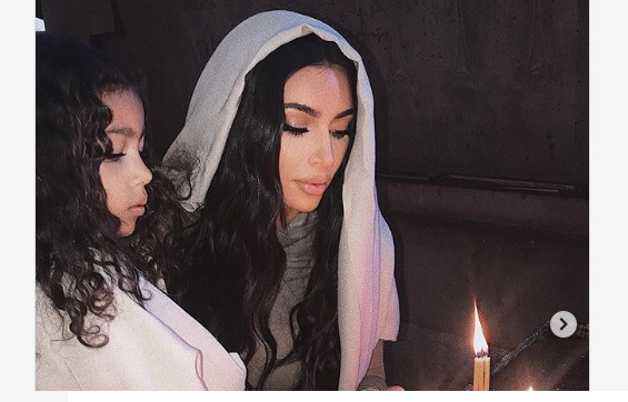 Kim Kardashian West Gets Baptized Says: 'So blessed to have been baptized along with my babies'.