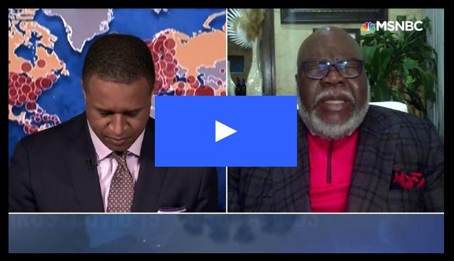 MSNBC host asks Bishop Jakes to Pray on Live TV amid Coronavirus Pandemic.